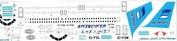 320-019 Ascensio 1/144 Декаль для airbu A320 (Metrajet)