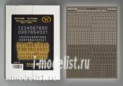 DT-3506 Wilder 1/35 Сухая декаль WWII German numbers for vehicles. Variant 1-Outline-