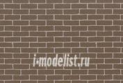 87168 Tamiya Диорам. лист А4 (кирп. кладка коричневая) (Diorama Material Sheet (Brickwork))
