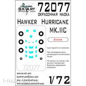 72077 SX-Art 1/72 Paint mask Hawker Hurricane MK. IIC (Zvezda)