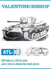 ATL-35-32 Friulmodel 1/35 Траки сборные (железные) VALENTINE/BISHOP