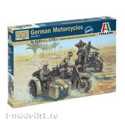 6121 Italeri 1/72 Немецкие мотоциклисты Второй мировой