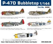 4464 Eduard 1/44 P-47D Bubbletop