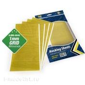 AMIG8045 Ammo Mig Masking Paper 1mm mesh (size 290x145mm, 5 sheets)