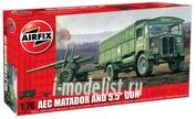 1314 Airfix 1/76 Aec Matador and 5.5