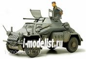 35270 Tamiya 1/35 Lichter Panzerspahwagen Sd.Kfz.222 Немецкий разведывательный бронеавтомобиль с набором фототравления, металлическим стволом, набором бочек, канистр и одной фигурой.