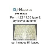 DM35226 DANmodel 1/35 Набор сухих желтых листьев папоротника