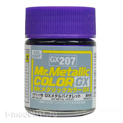 GX207 Gunze Sangyo Краска Mr.Hobby Mr.Metallic Color GX: Фиолетовый металлик, 18 мл.