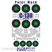 M72 051 KAV Models 1/72 Paint mask for C-130 Hercules (Zvezda)