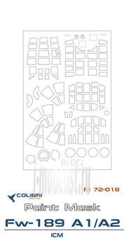 M72018 ColibriDecals 1/72 Маска для Fw-189 A1/A2 (ICM)
