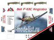 48654 AMG Models 1/48 Истребитель Bell P-63C Kingcobra