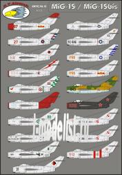 RVD 72018 R.V.AIRCRAFT 1/72 Декали для MiG-15 Mix