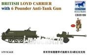 CB35189 Bronco 1/35 British Loyd Carrier with 6 Pounder Anti-Tank Gun