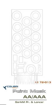 M72013 ColibriDecals 1/72 Маска для ГАC-АА/ААА (GarikM Pr & Lanser)