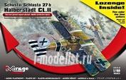 481401 Mirage Hobby 1/48 Schusta/Schlasta 27b Halberstadt CL.II (Lozenge five color, day time pattern decals Inside!)