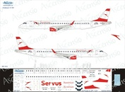 195-004 Ascensio 1/144 Декаль на самолет Embraer 195 (Austrian Airlines)