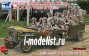 CB35169 Bronco 1/35 British Airborne Troops riding in 1/4 ton Truck and Trailer