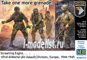 3574 MasterBox 1/35 Take one more grenade! Screaming Eagles, 101st Airborne (Air Assault) Division, Europe, 1944-1945
