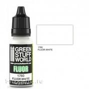 1760 Green Stuff World Флуоресцентная краска БЕЛАЯ (Fluor Paint WHITE) 17 мл