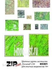 65301 ZIPmaket 1/48 Цветные карты местности