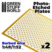 10171 Green Stuff World Фототравление - Колючая проволока (1:48 / 1:52) / Photo-etched Plates - Barbed Wire