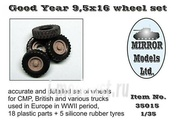 35015 Mirror-models 1/35 GoodYear 9,5 x 16 wheel set