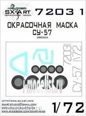 72031 SX-Art 1/72 Окрасочная маска Су-57(Звезда)