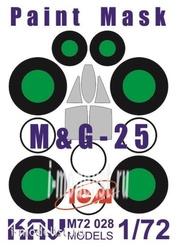 M72 028 KAV Models 1/72 Окрасочная маска на остекление МuГ-25 (ICM)