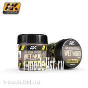 AK8026 AK Interactive Splatter Effects Wet Mud 100ml (Эффект брызг, свежая грязь)