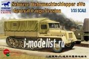 CB35172 Bronco 1/35 Schwere Wehrmachtschlepper sWs General Cargo Version