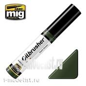 AMIG3507 Ammo Mig DARK GREEN (Масляная краска с тонкой кистью аппликатором)
