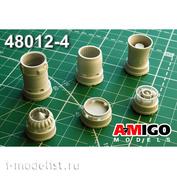 AMG48012-4 Amigo Models 1/48 МiGG-21СМТ Реактивное сопло двигателя Р13Ф-300