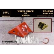 448001 HADmodels 1/48 Дополнение к модели Wheel chock for MiG-29