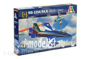 1418 Italeri 1/72 Учебно-боевой самолет MB.339A в ливрее P.A.N. 2018