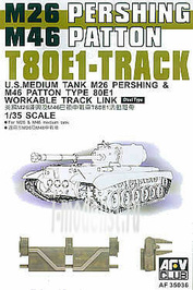 AF35036 AFVClub 1/35 Scale tracks for M42 Patton/M26 Pershing T80E1 (Steel Type) (working)