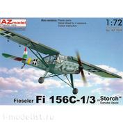 "AZ7648 AZ Model 1/72 Fieseler Fi 156C-1/3 ""Storch"" Danube Users"