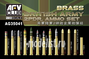 AG35041 AFVClub 1/35 British army 2pdr Ammo(Brass) set