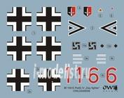 OWLDS48008 OWL 1/48 Decal Bf 109 E-3, W. Nr. 5057, double chevron