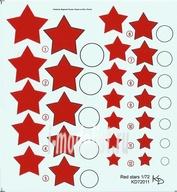 72011 KV Decol 1/72  Российские звезды, тип 4 (два листа)