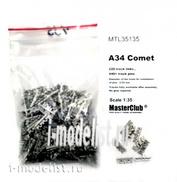 MTL-35135 1/35 Masterclub Tracks for the tank A34 Comet