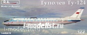 144RA19 RusAir 1/144 Туплев Т-у-124 (смола)