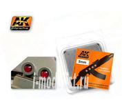 AK-219 AK Interactive Линзы прозрачные красные RED 5mm