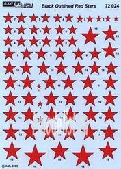 AMLD 72 024 AML 1/72 Декаль для Soviet Stars in the Sky, Red Stars