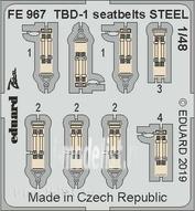 FE967 Eduard photo etched parts 1/48 TBD-1 steel straps