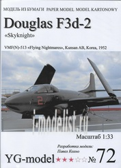 YG72 YG Model 1/33 Douglas F3d-2 'Skyknight