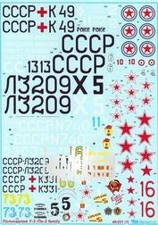 48031 Begemot 1/48 Декаль для самолета Поликарпов У-2 / По-2 family