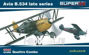 4452 Eduard 1/144 Avia B.534 late series Quattro Combo (Четыре модели в коробке)