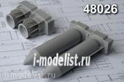 AMC48026 Advanced Modeling 1/48 РБК-500 БЕТАБ. разовая бомбовая кассета калибра 500кг в снаряжении с бетонобойными боевыми элементами