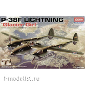 12208 Academy 1/48 P-38F Lightning Fighter