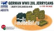 AB3576 Bronco 1/35 GERMAN WWII 20L JERRYCANS
